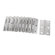 5.6cm Length Grey Stainless Steel Folding Closet Cabinet Door Butt Hinge 10 Pcs