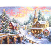 Holiday Village Counted Cross Stitch Kit