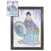 Garden Geisha Counted Cross Stitch Kit