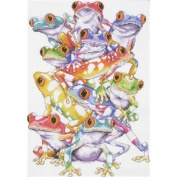 Frog Pile Counted Cross Stitch