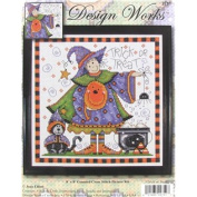 20cm x 20cm Trick or Treat Counted Cross Stitch Kit
