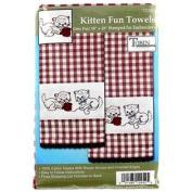 Kitten Fun Towels Needlework Kit