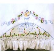 Ribbon & Flower Lady Pillowcase Needlework Kit