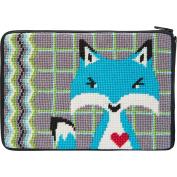 Cosmetic Purse - Fox - Needlepoint Kit