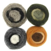 Earth Tone Multi Colour Wool Roving Rolls