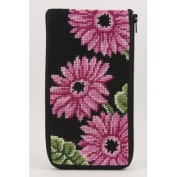 Eyeglass Case - Pink Gerber Daisies - Needlepoint Kit