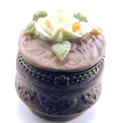 Garden Flowers Floral Resin Hinged Trinket Box