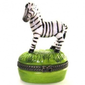 Zebra Stripes Hinged Safari Hinged Trinket Box phb 646