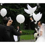 """""""(Price/Dozen)GOGO Wedding White Dove Balloons, Eco-Friendly Biodegradable Helium Balloons, Party Favours"""""""