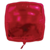 Balloons And Weights 886 60cm . Square Foil Mylar Balloons - Burgundy & #44; 50 Pieces