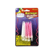Wholesale Birthday Candles With Plastic Stands Set of 96