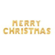 (Price/1 Set)GOGO Letter Balloons, Golden Aluminium Foil Balloon, MERRY CHRISTMAS - 100cm , Party Favours