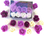 Valentine Rose Bath Bomb, 12 Rose in the Elegant Box.