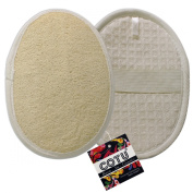2 Pack of COTU (R) Ultimate Exfoliating Natural Loofah Sponge Pads for Men and Women