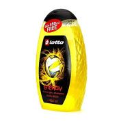 Lotto Energy Shower Gel & Shampoo 400ml 13.33oz