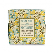 Greenwich Bay Sugar Pear and Winterberry Shea Butter Spa Soap - Enriched with Pure Sugar Cane, Virgin Olive Oil & Shea Butter- 190ml Holiday Vegetable Soap Bar
