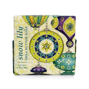 Greenwich Bay Snow Lily Shea Butter Soap - Enriched with Shea Butter & Creamy Cocoa Butter - 190ml Holiday Vegetable Soap Bar