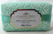 Castelbel White Lily 300 Gramme Soap Bar, Set of Two