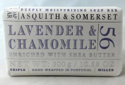 Asquith & Somerset Lavender & Chamomile 300 Gramme Soap Bar, Set of Two
