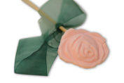10X Pale Pink Rose Shaped Soap Bars on Sticks, Strawberry Scented, Dr. Melumad - Dead Sea Cosmetics, Vegan, 10g10ml Ea