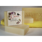 Crows 150ml Bee's Wax Soap Bar Handcrafted and Essential Oils Used in Each Giving Unique Characteristics and Properties Enhancing the Soaps with the Benefits of Aromatherapy.