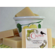 Crows 150ml Lemongrass and Honey Soap Bar Handcrafted with Essential Oils Used in Each Giving Unique Characteristics and Properties Enhancing the Soaps with the Benefits of Aromatherapy.