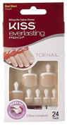Kiss Everlasting French Toenail 24 Nails Real Short EFT01