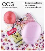 EOS Limited Edition Trio Pack - Pink Grapefruit Lip Balm, Berry Blossom Hand Lotion & Kleenex Slim-Wallet Pack
