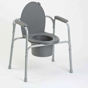 1 EACH OF All-In-One Aluminium Commode - 1 Each by Invacare