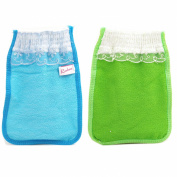 Body-scrub Glove (mitten Type) By Koreatrends (Blue Glove (1p) + Green Glove