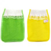 Body-scrub Glove (mitten Type) By Koreatrends (Yellow Glove (1p) + Green Glove