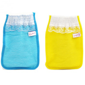 Body-scrub Glove (mitten Type) By Koreatrends (Blue Glove (1p) + Yellow Glove