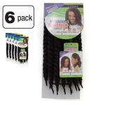 6 Pack of Janet Collection Havana Medium Mambo Twist Braid 30cm Colour 2