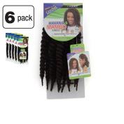 6 Pack of Janet Collection Havana Medium Mambo Twist Braid 30cm Colour 4