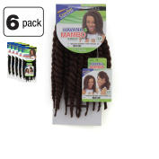6 Pack of Janet Collection Havana Medium Mambo Twist Braid 30cm Colour M4/30