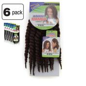 6 Pack of Janet Collection Havana Medium Mambo Twist Braid 30cm Colour M1B/30