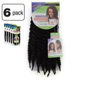 6 Pack of Janet Collection Havana Medium Mambo Twist Braid 30cm Colour 1