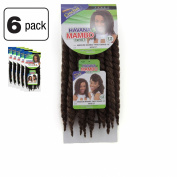 6 Pack of Janet Collection Havana Medium Mambo Twist Braid 30cm Colour M1B/27