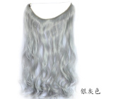 Lola Hair Silver Grey Mirco Ring Hair Extension Curly Weave Transparent Wire