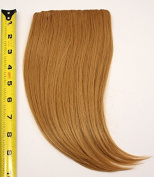 Long Clip on Bangs Synthetic Hair Accessory - Natural Black