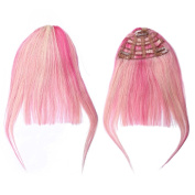 BEAUTY PLUS Clip on Bangs Real Human Hairpieces for Beauty Girls