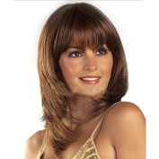Cexin Middle and Aged Women New Style Full Length Short Wavy Wigs