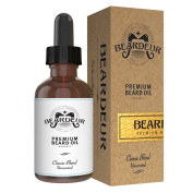 Handcrafted Premium Beard Oil for Men, Best Leave In Men Skin Care Conditioner, Beard Growth, Ultimate Facial Hair Solution Recipe, Natural, Organic, Fragrance Free, Satisfaction Guaranteed