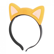uxcell® Party Cosplay Flashing Cat Ear Design Light Hair Band Hairband Yellow