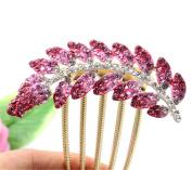 Meritina Shining Rhinestone Decorative Hairpin Hair Combs
