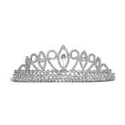 Bridal Pageant Crystal Rhinestone Prom Wedding Tiara Comb Silver Tone