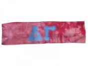 Delta Gamma Sorority Pink Tie Dye Stretch Hair Band Headband Little Big Gift