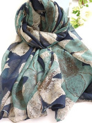 New Fashion Desigual Scarf Flower Print Voile Velvet Cotton Infinity Scarf Winter Echarpes Scarves Silk Shawl For Woman