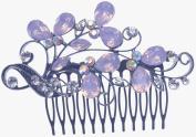 Women Bridal Wedding Flower Diamante Effect of Jelly Hair Clip Comb