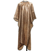 ISSEC Leopard Pattern Salon Hair Cutting Cape Gown Cloth Hairdressing Tools